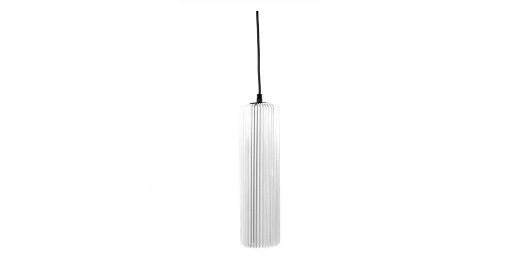 Exkluzív függesztett mennyezeti lámpa, 30 cm, cső alakú, fehér - FUSEAU